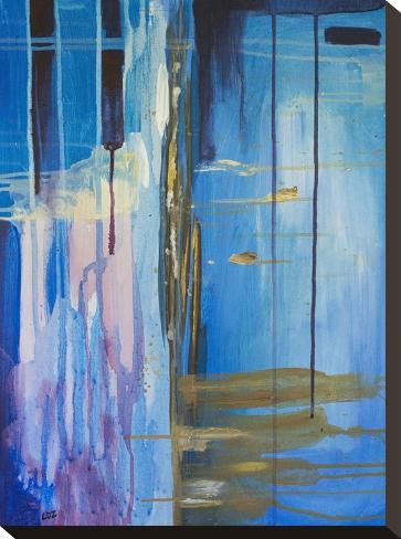 Desert Rain-Laura D Zajac-Stretched Canvas Print