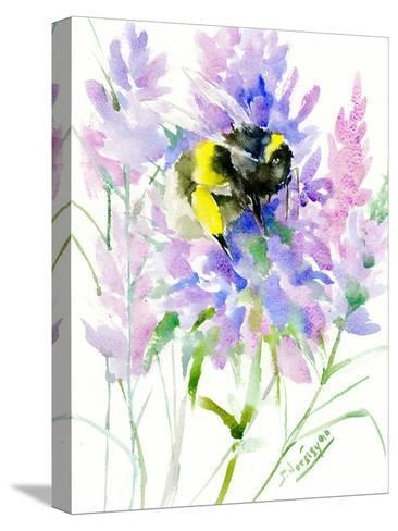 Bumblebee Flowers-Suren Nersisyan-Stretched Canvas Print
