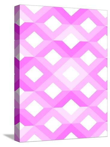 Pink Geometric Style-Wonderful Dream-Stretched Canvas Print