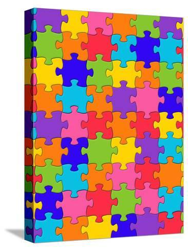 Colorful Puzzle Style-Wonderful Dream-Stretched Canvas Print