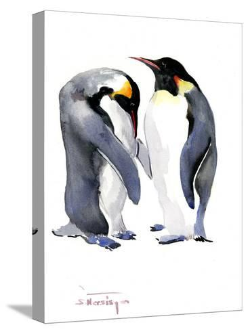 Emperor Penguins-Suren Nersisyan-Stretched Canvas Print