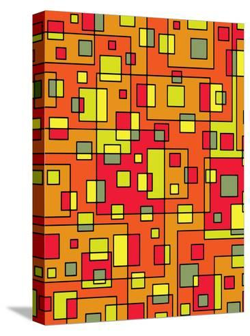 Square Pattern Design-Wonderful Dream-Stretched Canvas Print