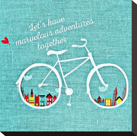 Adventure Bike-Wonderful Dream-Stretched Canvas Print