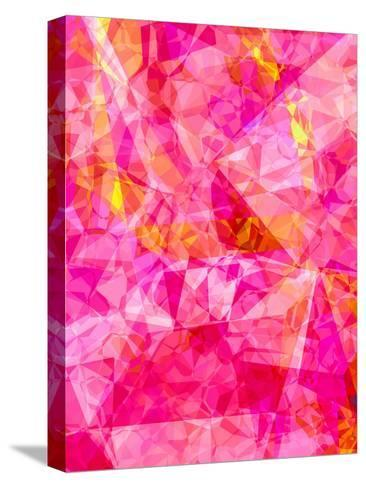 Triangles Abstract Pattern 27-Grab My Art-Stretched Canvas Print