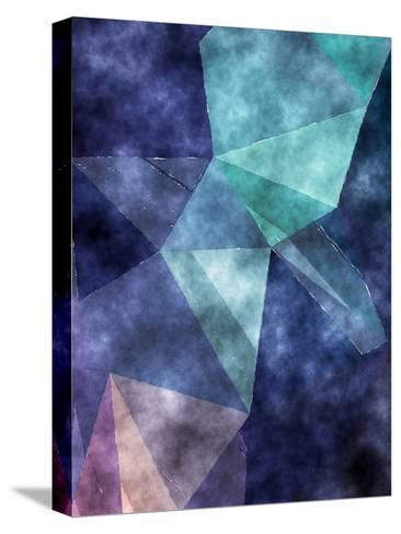 Triangles Abstract Pattern 5-Grab My Art-Stretched Canvas Print