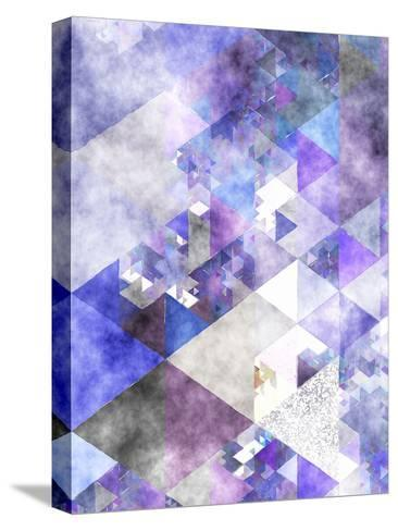 Triangles Abstract Pattern 17-Grab My Art-Stretched Canvas Print