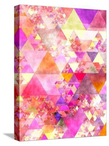 Triangles Abstract Pattern 18-Grab My Art-Stretched Canvas Print