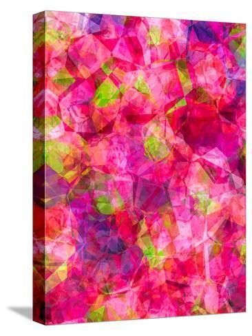 Triangles Abstract Pattern 22-Grab My Art-Stretched Canvas Print