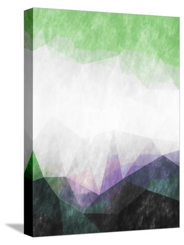 Triangles Abstract Pattern-Grab My Art-Stretched Canvas Print