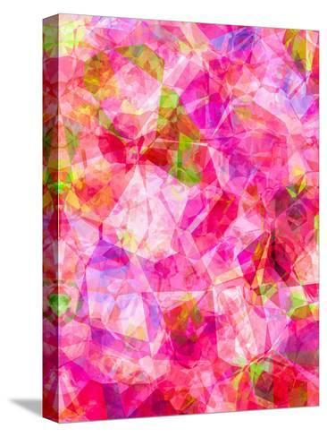 Triangles Abstract Pattern 26-Grab My Art-Stretched Canvas Print
