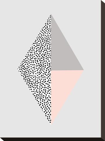 Blackdots-Nanamia Design-Stretched Canvas Print