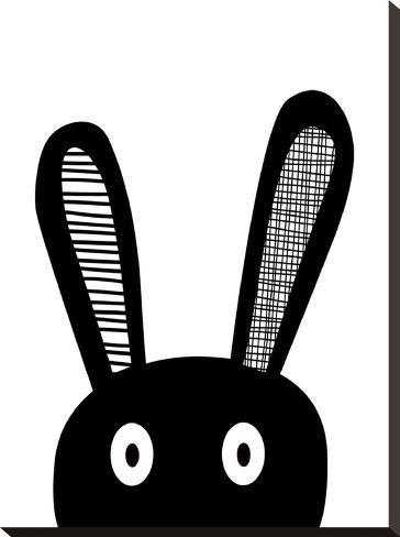 Bunnyselfie-Nanamia Design-Stretched Canvas Print