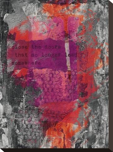 Close The Door-Lebens Art-Stretched Canvas Print