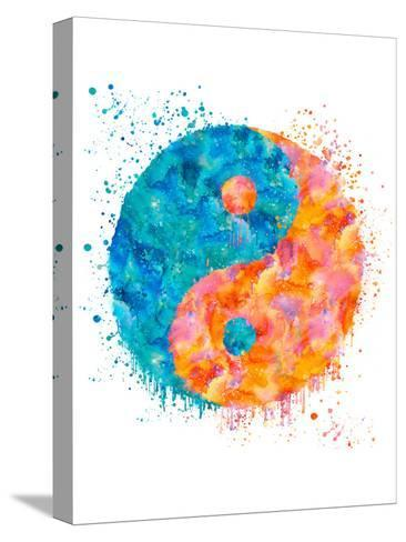 Yin Yang-Lebens Art-Stretched Canvas Print