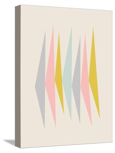 Pasteltriangle-Nanamia Design-Stretched Canvas Print