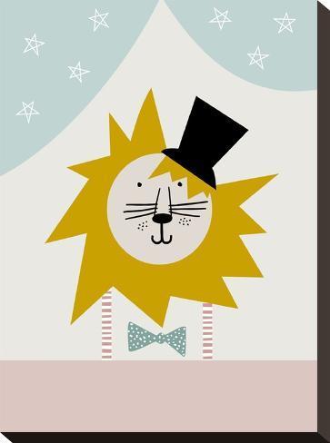 Lion-Nanamia Design-Stretched Canvas Print