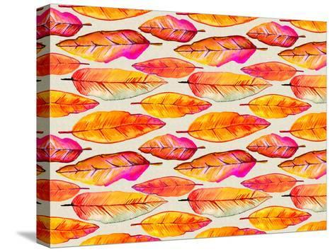 Feather Pattern 2-Lebens Art-Stretched Canvas Print