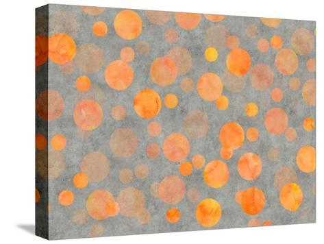 Orange Dot Pattern-Lebens Art-Stretched Canvas Print