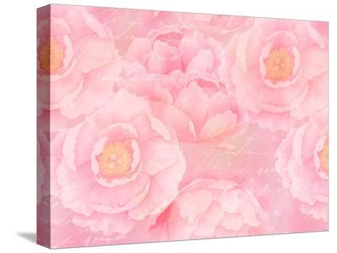 Soft Pink Rose Watercolor-Lebens Art-Stretched Canvas Print