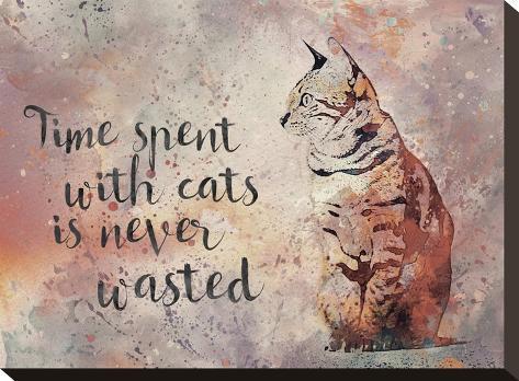 Cat 2-Lebens Art-Stretched Canvas Print
