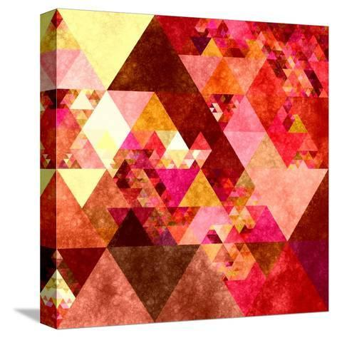 Triangles Abstract Pattern -Square 12-Grab My Art-Stretched Canvas Print
