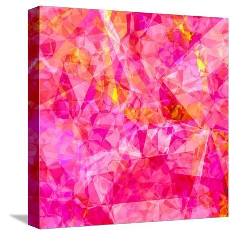 Triangles Abstract Pattern - Square 27-Grab My Art-Stretched Canvas Print