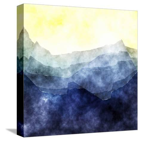 Triangles Abstract Pattern- Square 2-Grab My Art-Stretched Canvas Print