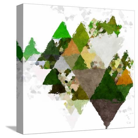 Triangles Abstract Pattern -Square 20-Grab My Art-Stretched Canvas Print