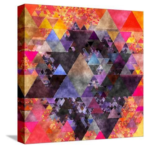 Triangles Abstract Pattern - Square 6-Grab My Art-Stretched Canvas Print