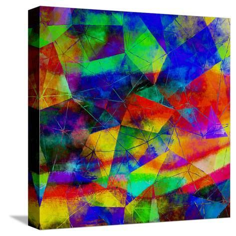 Triangles Abstract Pattern - Square 9-Grab My Art-Stretched Canvas Print
