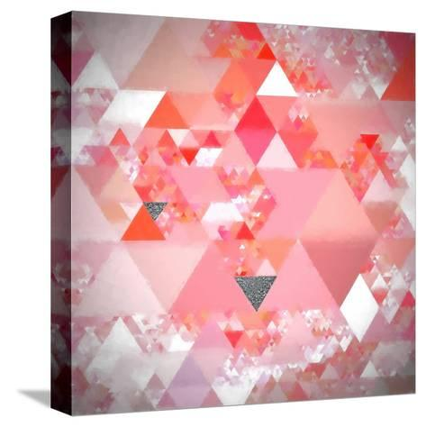 Triangles Abstract Pattern - Square 24-Grab My Art-Stretched Canvas Print