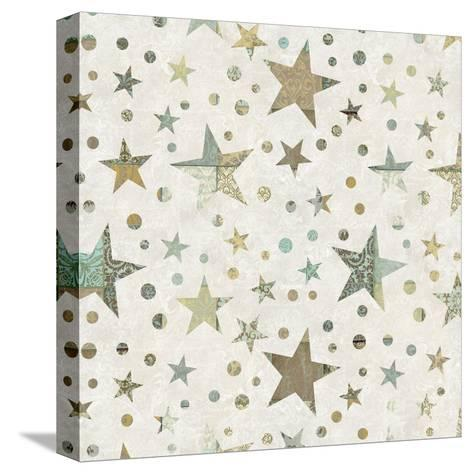 Patchwork Star Pattern - Square-Lebens Art-Stretched Canvas Print