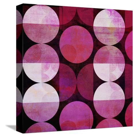 Red Circle Pattern - Square-Lebens Art-Stretched Canvas Print