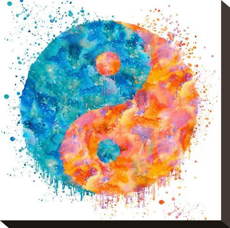 Yin Yang - Square-Lebens Art-Stretched Canvas Print