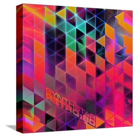 Synthstar Retro80-Spires-Stretched Canvas Print
