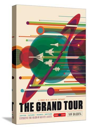 NASA/JPL: Visions Of The Future - Grand Tour--Stretched Canvas Print