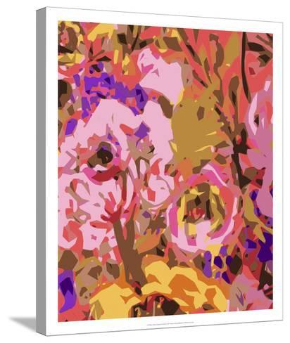 Warm Abstract Floral II-Karen  Fields-Stretched Canvas Print