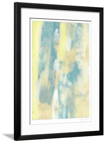 Turquoise Transparency I-Jennifer Goldberger-Framed Art Print