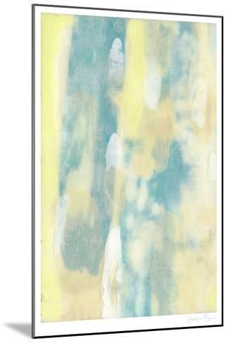Turquoise Transparency I-Jennifer Goldberger-Mounted Limited Edition