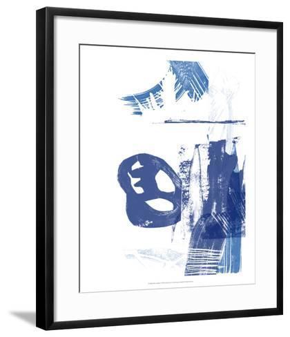 Blue Scribbles I-Vision Studio-Framed Art Print