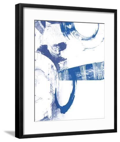 Blue Scribbles III-Vision Studio-Framed Art Print
