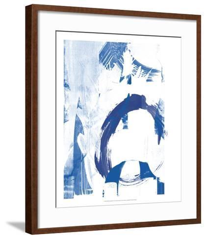 Blue Scribbles IV-Vision Studio-Framed Art Print