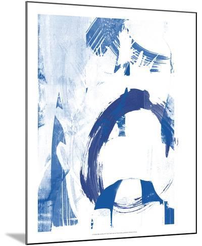 Blue Scribbles IV-Vision Studio-Mounted Art Print