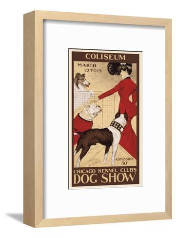 Chicago Kennel Club's dog show-George Ford Morris-Framed Art Print