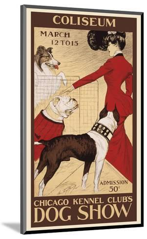Chicago Kennel Club's dog show-George Ford Morris-Mounted Art Print
