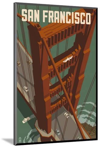 San Francisco - Golden Gate Bridge-Lantern Press-Mounted Art Print
