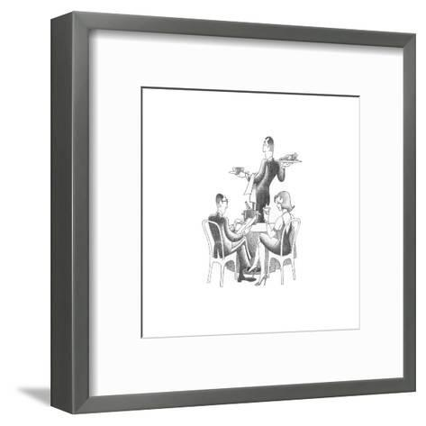 Dining Out-Roger Vilar-Framed Art Print