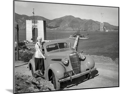Golden Gate Bridge Under Construction, 1935, San Francisco-Unknown-Mounted Art Print