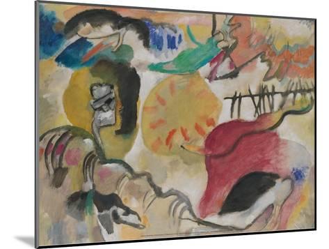 Improvisation 27 (Garden of Love II), 1912-Wassily Kandinsky-Mounted Art Print