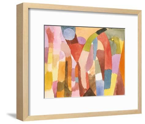 Movement of Vaulted Chambers, 1915-Paul Klee-Framed Art Print